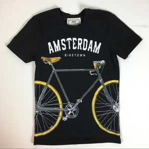 Fox Amsterdam bike graphic t-shirt size S